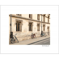 Bikes on an Oxford Street - 8x10 Matted Print