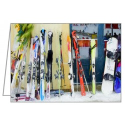 Skis by the window -...