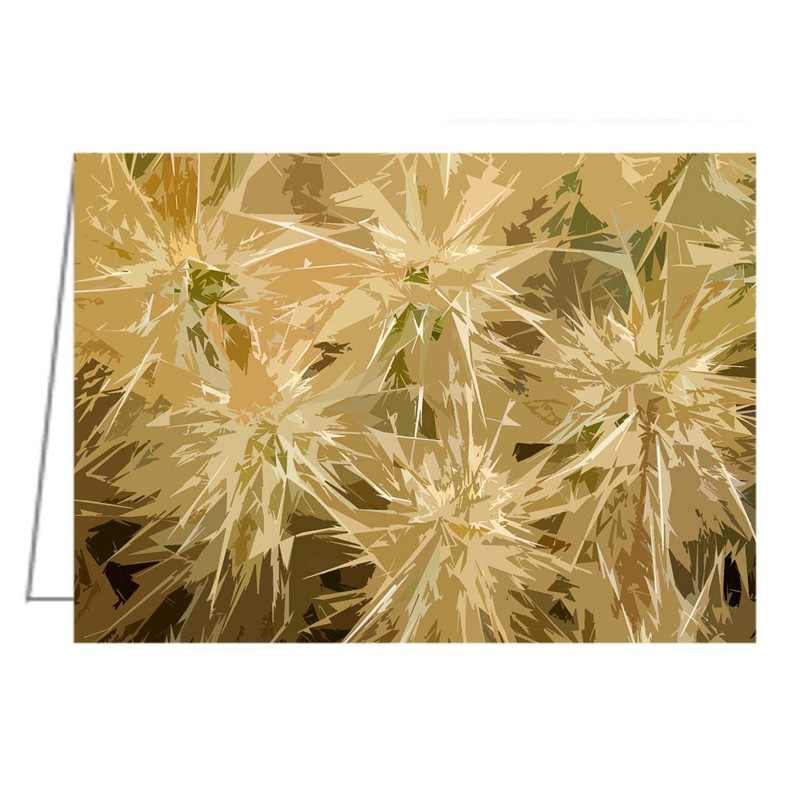 Hedgehog Cactus Abstract - Greeting Card