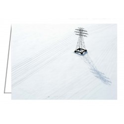 Hydro lines over a frozen Ottawa River - Greeting Card