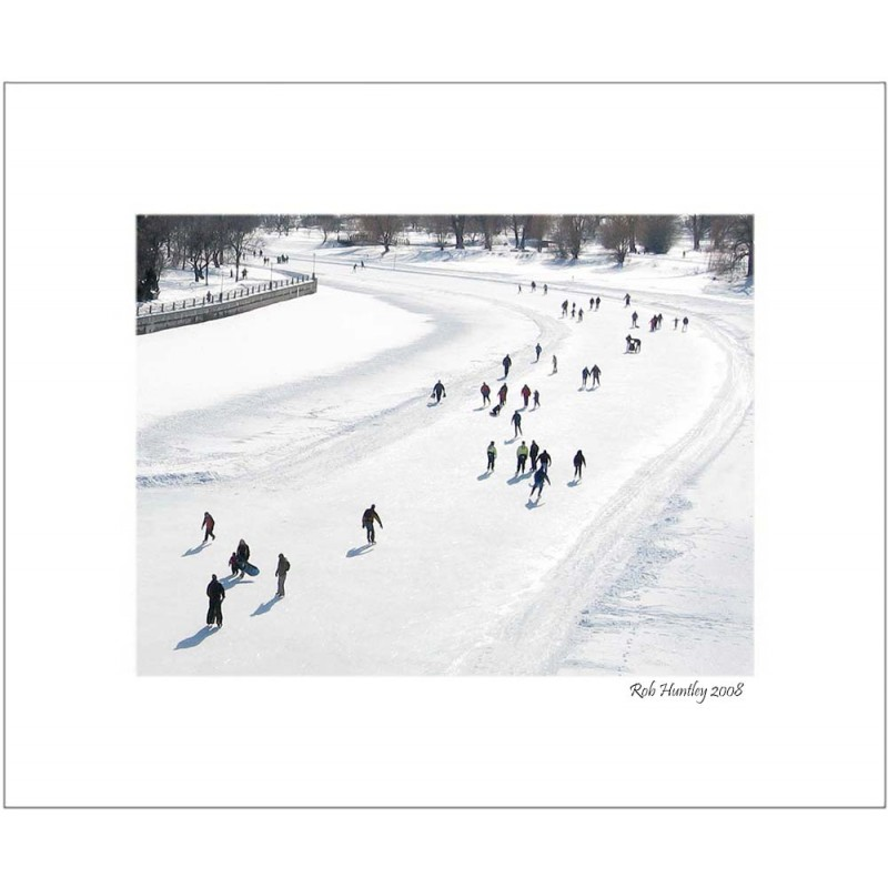 Skating on Dow's Lake (Rideau Canal) - 8x10 Matted Print