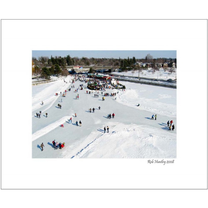 Skating on Dow's Lake at Bronson Bridge - 8x10 Matted Print