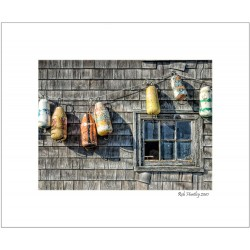 Buoys on a Wall, Peggy's Cove - 8x10 Matted Print