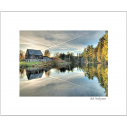 Barn on Mill Pond, Waba Creek - 8x10 Matted Print