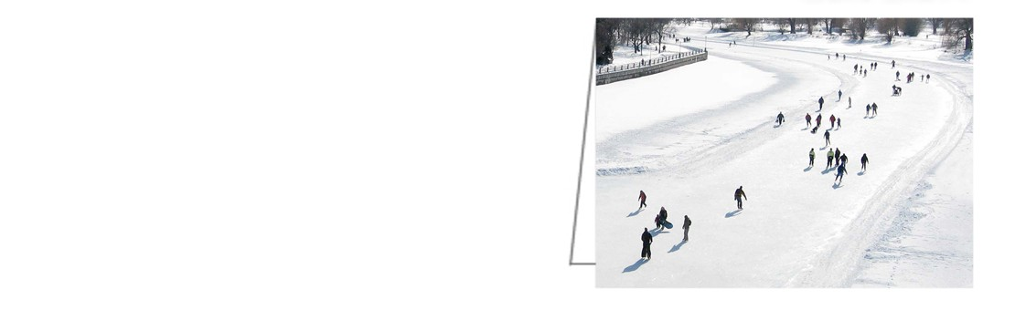 Skating on the Rideau Canal at Dows Lake. A great winter-themed card for all occasions.